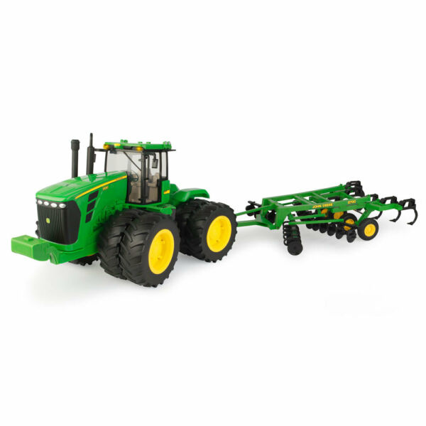 Tomy Big Farm John Deere 1:16 Scale 9530 Tractor With 2700 Ripper