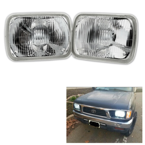 Real Glass Style Headlights for Toyota Pickup Tacoma 2 Lamps without bulb