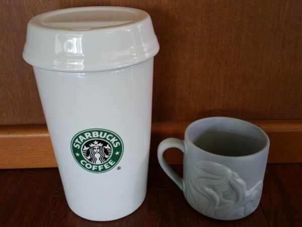 RARE PROMOTIONAL STARBUCKS COFFEE BEANS CANISTER CONTAINER MERMAID MUG TUMBLER