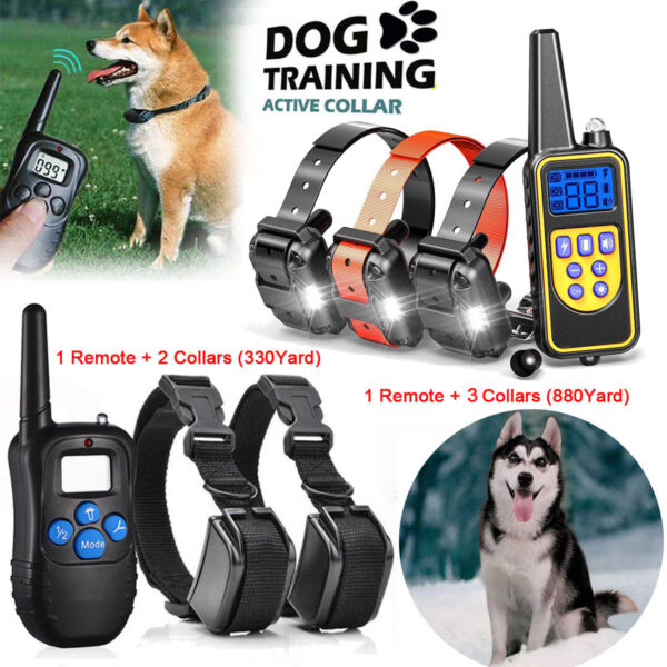 Dog Shock Collar With Remote Waterproof Electric For Large 880 Yard Pet Training $39.59