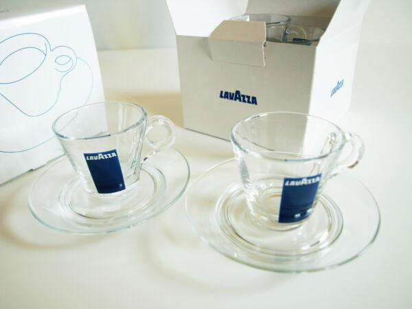 LAVAZZA 2x2 Espresso Cup & Saucer Limited Edition Box Sets  2 BRAND NEW BOXES