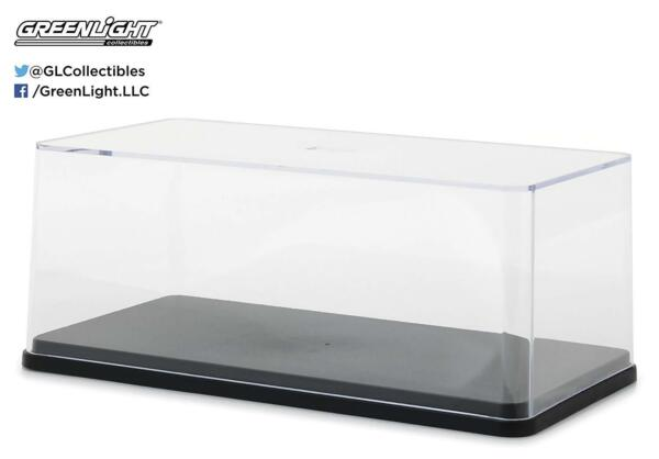 ACRYLIC DISPLAY CASE w.BLACK BASE FOR 124 Scale MODEL CARS BY GREENLIGHT 55024