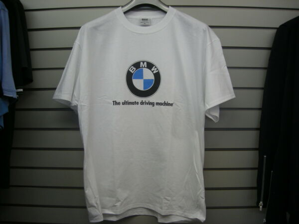 BMW WHITE LOGO ULTIMATE DRIVING MACHINE T SHIRT