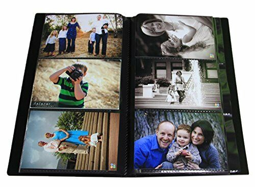 Portfolio Photo Album Holds 500 Pictures - 4x6 / Space Saver with Protective Pol