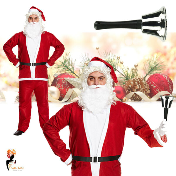 Adult Christmas Santa Claus Costume Office Home Party Fancy Dress Outfit Xmas GBP 10.50