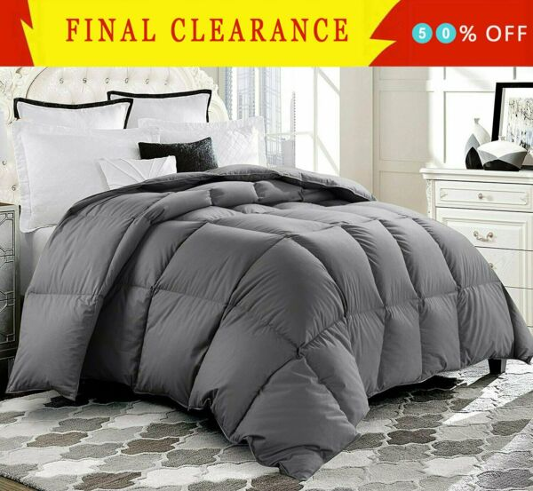 Luxury Supersoft Goose Down Alternative Comforter Twin Queen King Size 11 Color