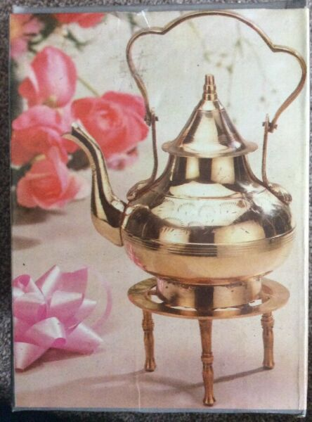 Vintage Brass Kettle on Trivet Stand Hand Made Boxed