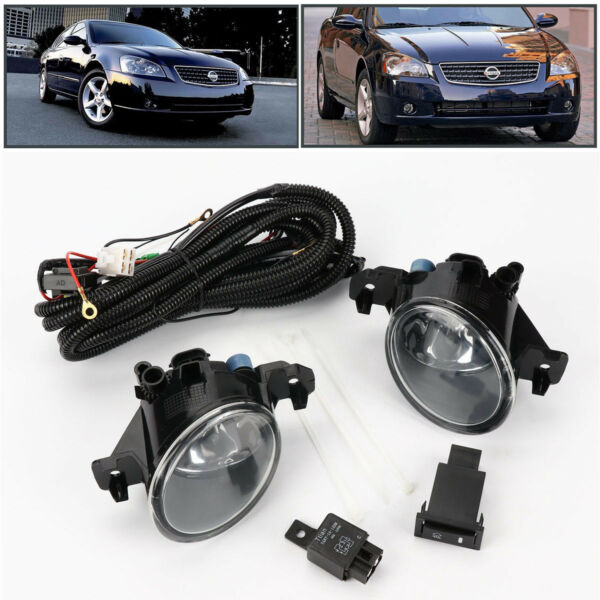 Pair Clear Front Bumper Fog Lights Lamp wSwitch for Nissan Altima JDM 2005-2006