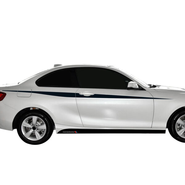 2pcs Side Skirt Stripes M Performance Decal Stickers for BMW 2 Series F22 F23 $19.99