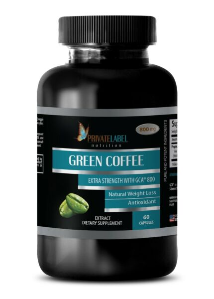 Green Coffee Bean Extract GCA 800 - Detoxify Your Body Fat Burner Pills - 1 Bot
