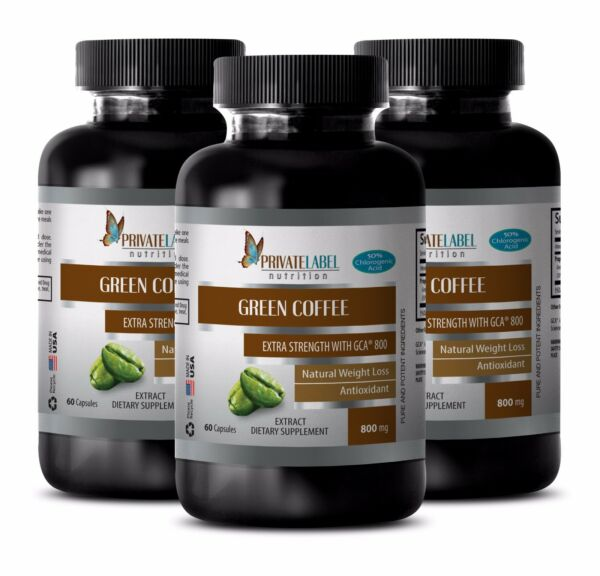 Green Coffee Bean Extract wGCA 800 - Slimming Pills - Fat Burner - 3B
