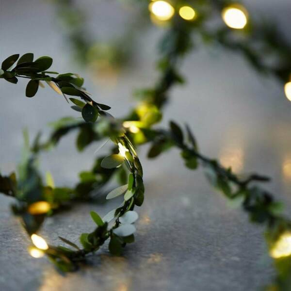 Outdoor Waterproof 2m Led Leaf Garland Copper Wire LED2. Lights Party Decoration