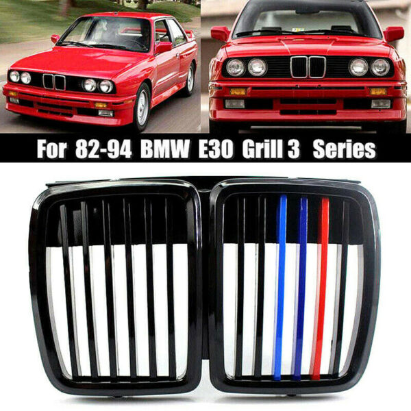 51131884350 For 82 94 BMW E30 Grill 3 Serie Front Hood Kidney Grille M3 Stylish
