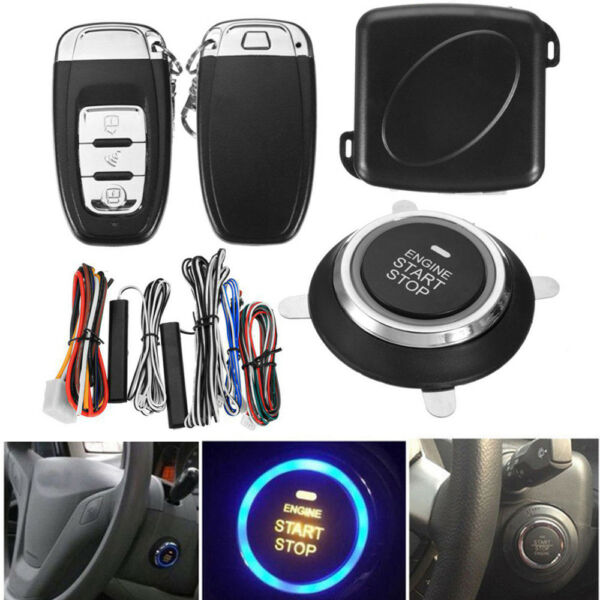 Car Auto Alarm System Security Push Button Keyless Entry Engine Starter Remote