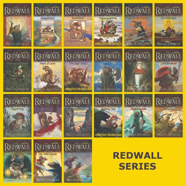 Redwall Series Set Collection Vols.1 22 Books by Brian Jacques LARGE PAPERBACK