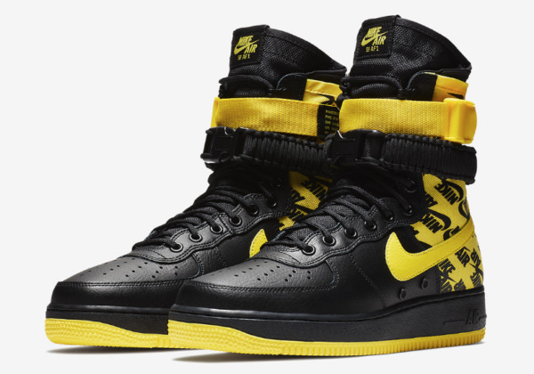 New Nike Air Force 1 High SF Af1 Special Field Yellow Logos Ar1955-001