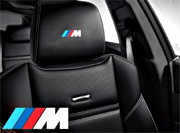 5x ///M BMW Sticker logo for leather seats and other flat and smooth surfaces