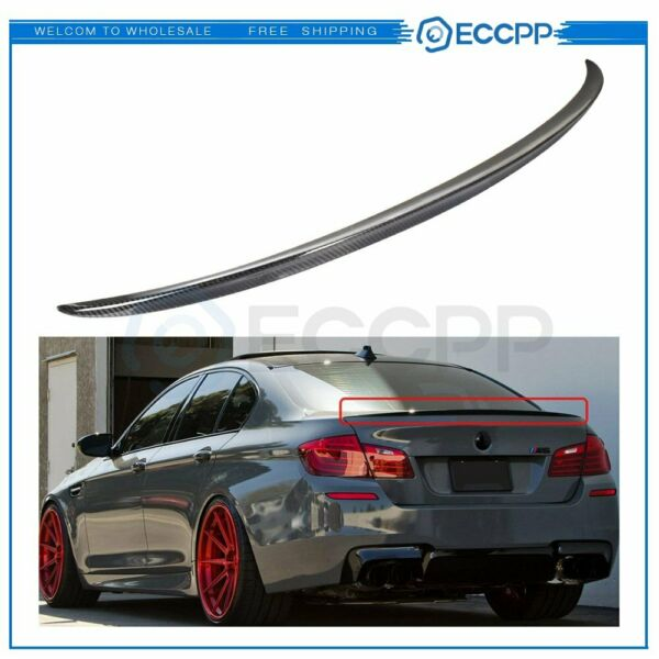 For 11 16 BMW F10 5 Series 535i 528i Trunk Lip Rear Carbon Fiber M5 Spoiler Wing $95.81