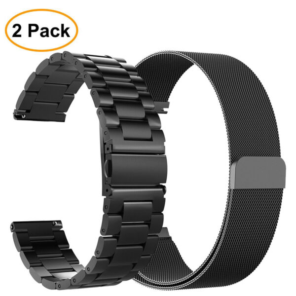 2PCS Band For Samsung Galaxy Watch 46mm  Gear S3 Frontier  Classic Strap Bands