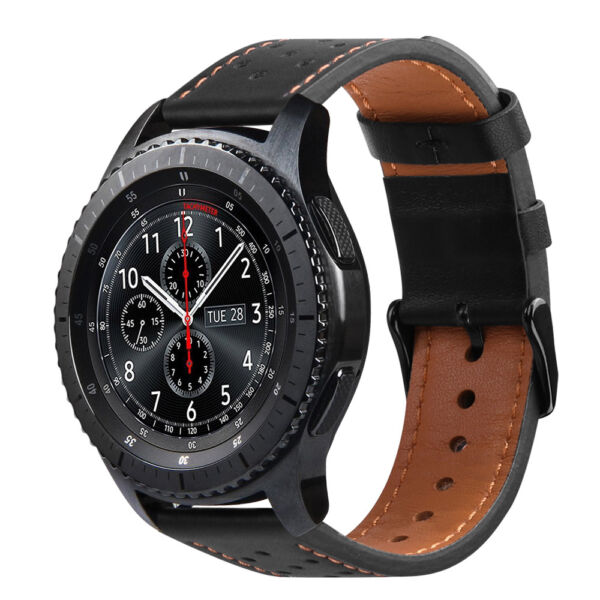 For Samsung Galaxy Watch 46mm  Gear S3 Frontier  Classic Genuine Leather Band