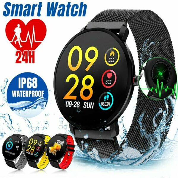 Waterproof Sport Smart Watch Blood Pressure Heart Rate Monitor for iOS Android