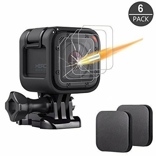 [6 Pack] Tempered Glass Screen Protector for Gopro Hero 4 Session Hero 5 Session
