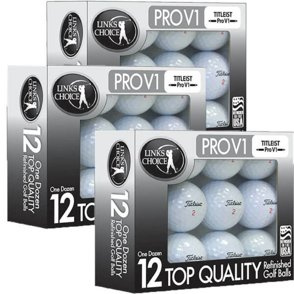 36 Titleist Pro V1 Used Golf Balls / Mint Refinished AAAAA / Free Shipping