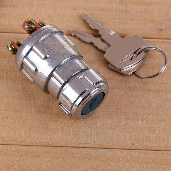 Car Auto 12V Volt Forklift Tractor Ignition 2 Key Switch Lock 4 Position Durable