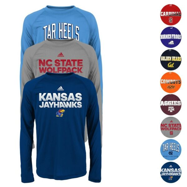 NCAA Outerstuff & Adidas Long Sleeve Performance T-Shirt Youth Size (S-XL)