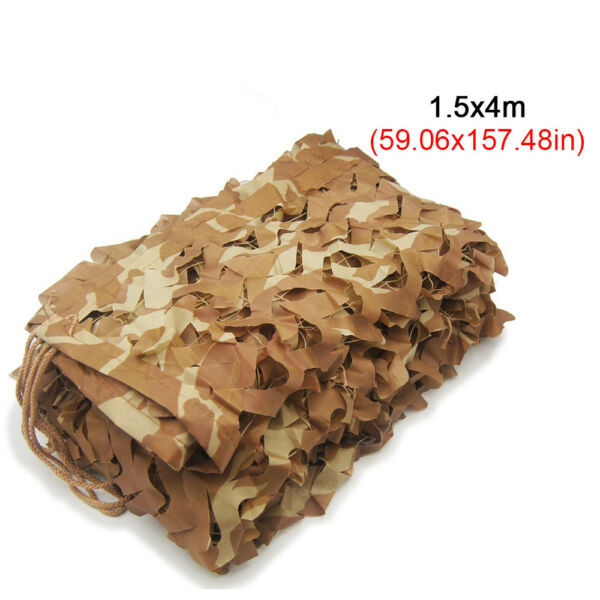 5X13ft Camping Military Camouflage Blind Net Woodland Desert Camo Netting Cover