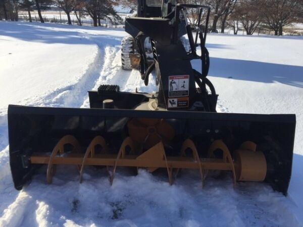 John Deere Skid Loader Snow Blower Attachement