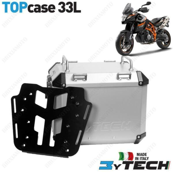BAULETTO MYTECH ALUMINUM SILVER 33 L WITH PLATE KTM 990 Supermoto  T 1014