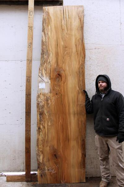 Natural Spalted Maple Wood Slab Countertop Live Edge Bar Top DIY Wooden 6299x8