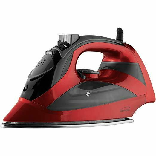 BRAND NEW Brentwood MPI-90R Steam Iron with Auto Shut-Off Red