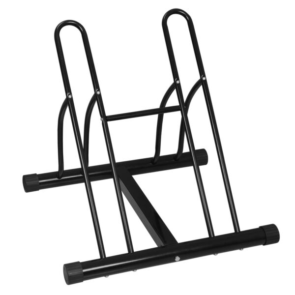 DURABLE Bicycle Bike Floor Parking Storage Stand Display Rack Wheel Holder $35.99