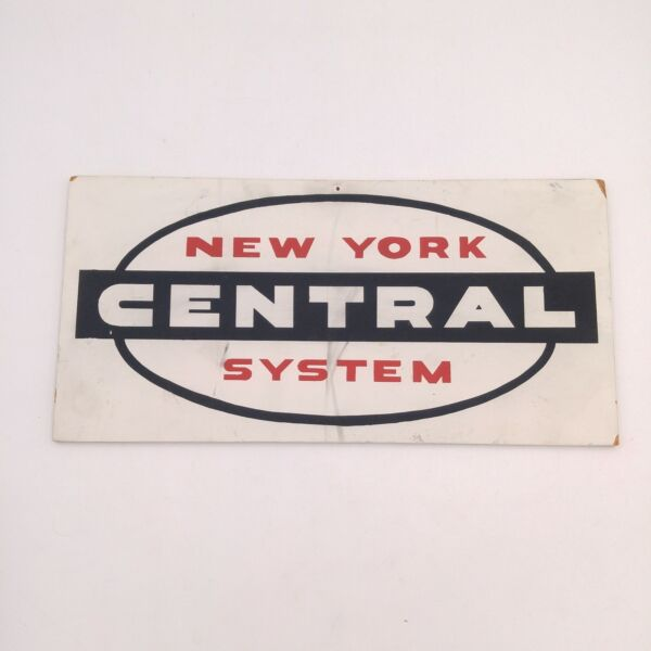Vintage New York System Central Wooden Railway Sign 15quot; x 7quot; $19.99