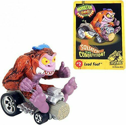 Monster 500 Trading Card amp; Small Car Figure Lead Foot $14.95
