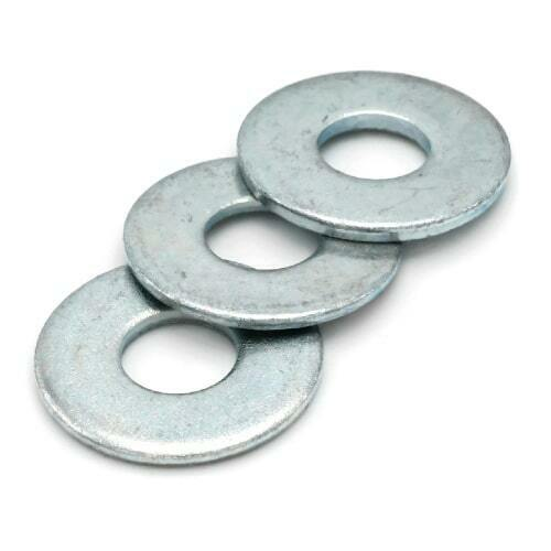 5 16quot; SAE STEEL FLAT WASHER ZINC PLATED 11 16quot; OD X 11 32quot; ID 100PC $5.55