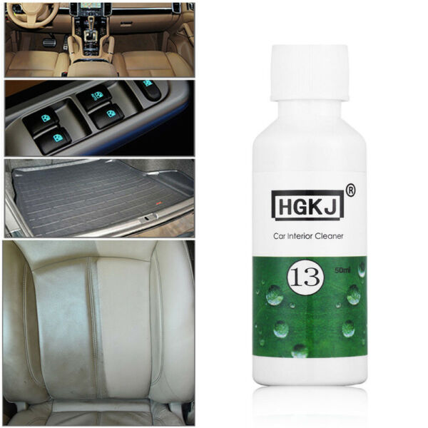 1x 50ml Car Care Interior Leather Sofa Polish Wax Panel Dashboard Cleaner Useful