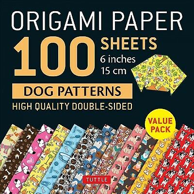 Origami Paper 100 Sheets Dog Patterns 6 Inch : High Quality Double Sided Pap... $6.97