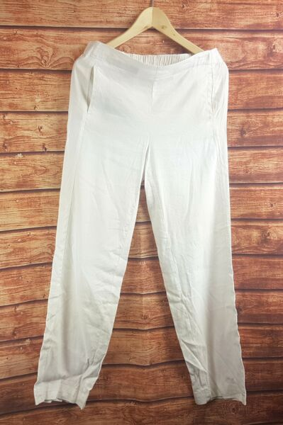 New J Jill White Easy Linen Stretch Flat Front Pants All Sizes $10.95