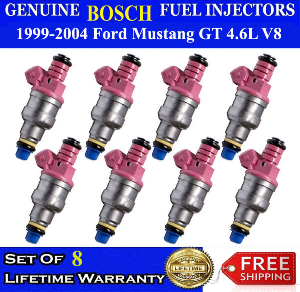 Upgraded Oem Bosch 8X Fuel Injectors For 1999 2004 Ford Mustang GT V8 4.6L