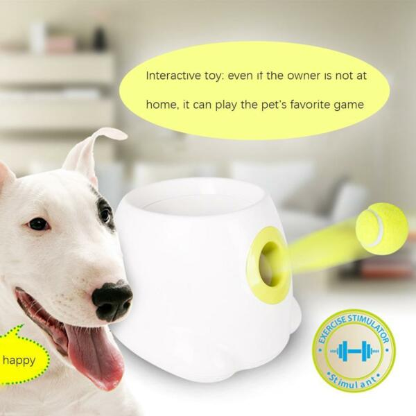 Automatic Pet Dog Launcher Tennis Ball Toy Interactive Fetch Chucker Thrower
