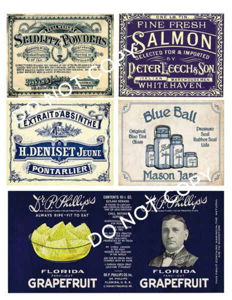 Blue and White Pantry Labels #FH450