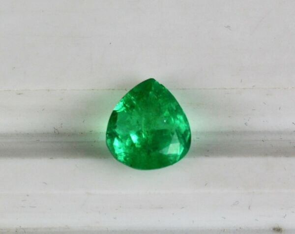 RARE GTL CERTIFIED NATURAL COLOMBIA EMERALD PEAR CUT 4.18 CTS GEMSTONE FOR RING