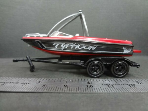 JL Typhoon Boat with Trailer 1:64 Loose New Mint Rare $19.99