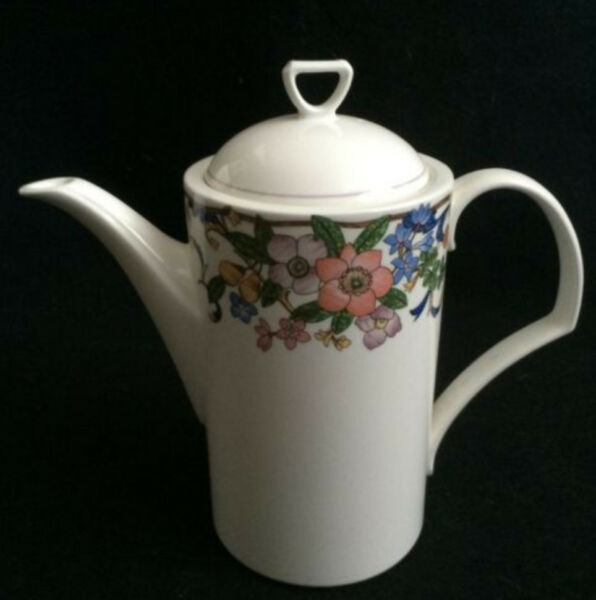 NEW Mikasa MAGICAL MEADOW Tea Coffee Serving Pot w Lid White Floral Replacement
