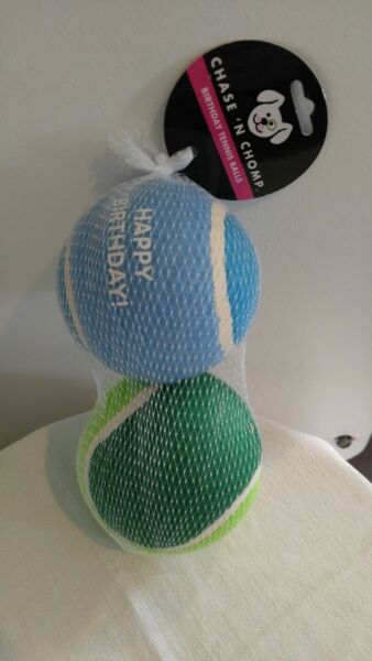 Tennis Balls for Dogs Pet Safe Dog Toys for Exercise and Training Set of 2 NWT $10.98