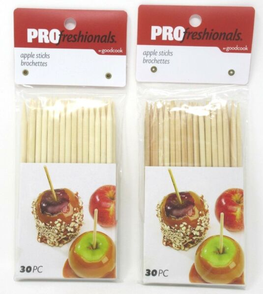 Caramel Apple Corn Dog Sticks Wood Skewers Dowels Pointed 6quot; x 1 4quot; 60 Total $7.63