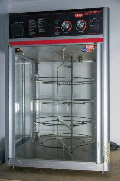 Hatco FSDT-1 Countertop HotHeated Food Display Case with 4 Tier Circle Rack